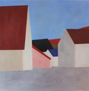 mehre Häuser farbig gemalt