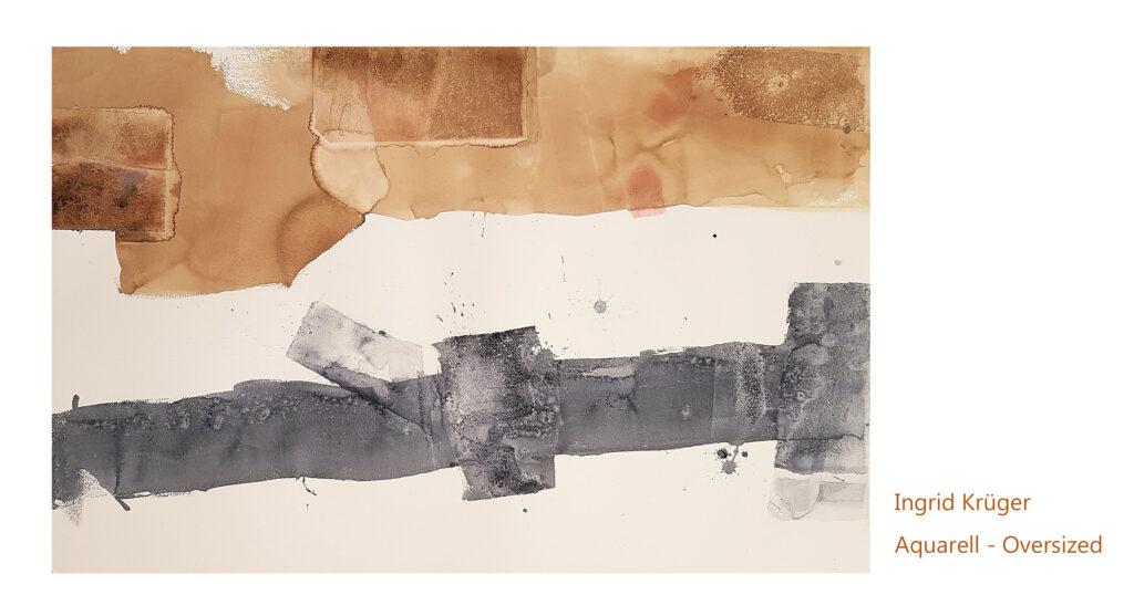 abstraktes Bild in grau und braun
