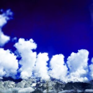 Bild blauer Himmel und weiße Wolken
