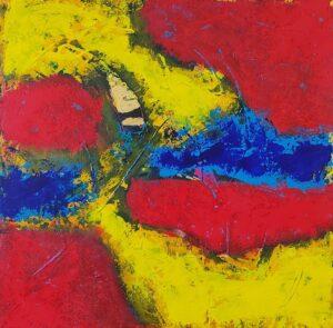 Bild das Farbflächen rot blau gelb enthält